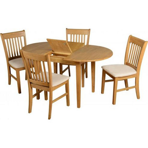 Home Essence Oxford 5 Piece Extending Dining Set