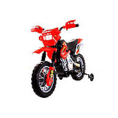 Kids Dirt Bike Style Ride On Bike - Red