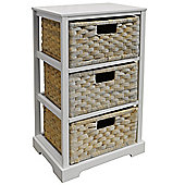 Miami - 3 Drawer Storage Cabinet - White / Whitewash