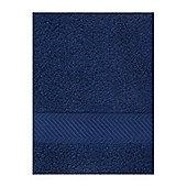 Luxury Hotel Collection Zero Twist Bath Sheet In Navy
