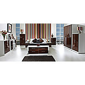 Welcome Furniture Knightsbridge 3 Drawer Chest - Walnut - Cream