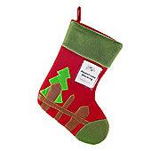 Red Felt Photoframe Christmas Stocking