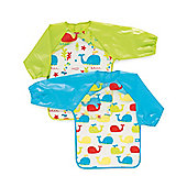 Mothercare Whale PEVA Coveralls- 2 Pack