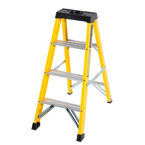 Trade 4 Tread GRP Fibreglass Step Ladder