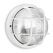 Pendle IP44 Round LED Bulkhead Light in White