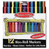 Melissa and Doug Non-Roll Markers Set