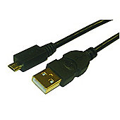 USB 2.0 A To Micro USB PC Mobile Phone Cable Lead 3M