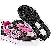 Heelys Bolt 2.0 Black/Pink/Cheetah Heely X2 Shoe