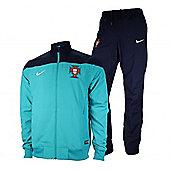 2014-15 Portugal Nike Woven Tracksuit (Turbo Green) - Ocean blue