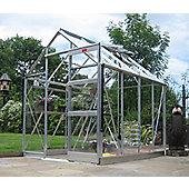 Elite High Eave Greenhouse – 6 x 8 - Natural Aluminium Finish + Bundle – Toughened Glass