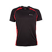 Glide Mens Short Sleeve Exercise Running Walking Cycling Active Base Layer Top - Black