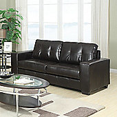 Sofa Source Rose Bonded Leather 3 Seater Sofa - Black