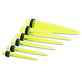 Urban Male Green Acrylic UV Ear Taper Six Piece Starter Set