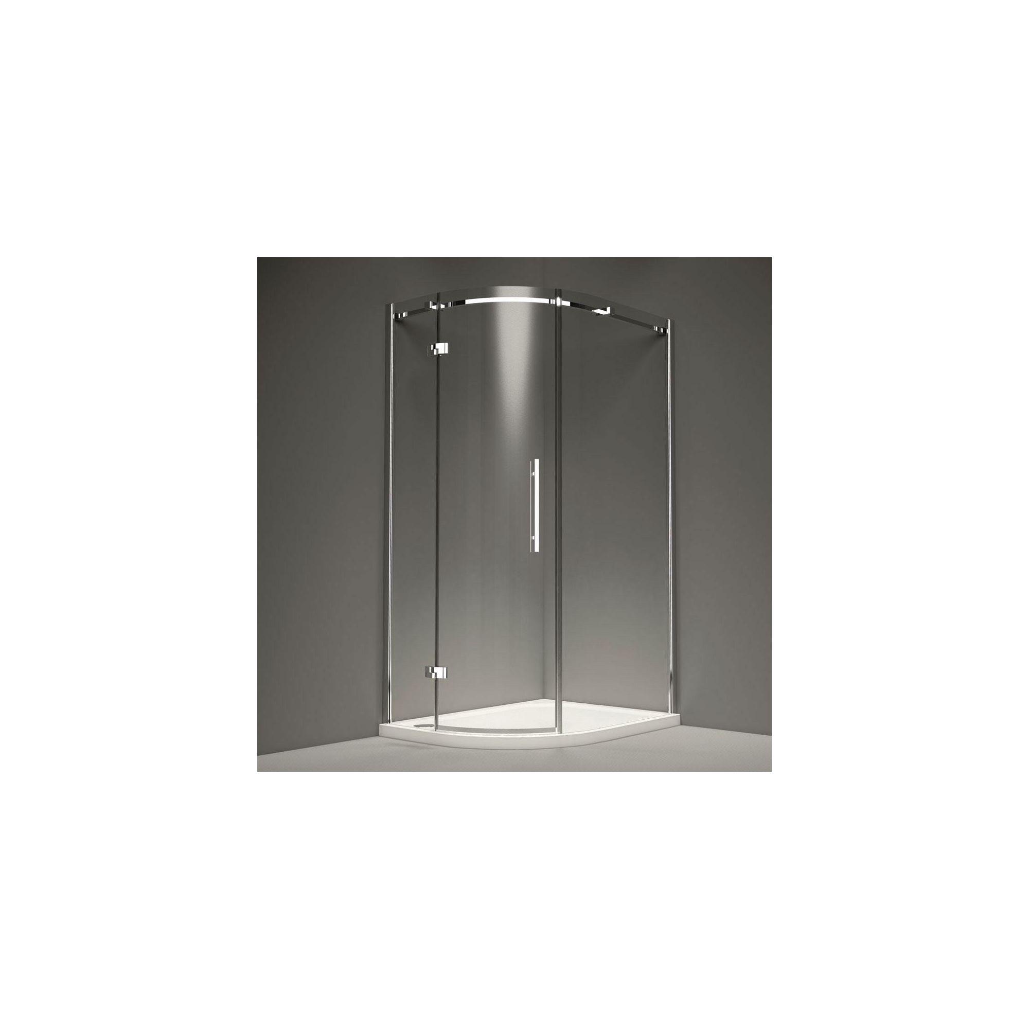 Merlyn Series 9 Offset Quadrant Shower Door, 900mm x 760mm, 8mm Glass, Left Handed at Tesco Direct