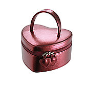 Boutique Heart Jewellery Box - Red