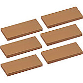 Harbour Housewares Pack of 6 Floating Wooden Wall Shelves 60cm - Natural Beech