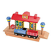 ELC Wooden Train Station with Sound