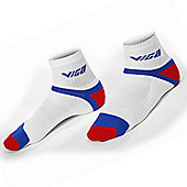 Viga White Red and Royal Cycling Uni Soc Sports Socks - Multi