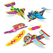 Star Hero Gliders for Kid's Party Bags, Toys & Prizes (Pack of 8)
