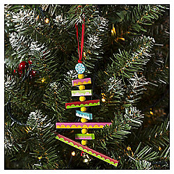Wooden Tree with Bell Christmas Tree Decoration