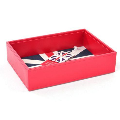buy red union jack open stacker mens storage box valet. Black Bedroom Furniture Sets. Home Design Ideas