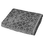 Grey Geometric Pattern Bath Towel