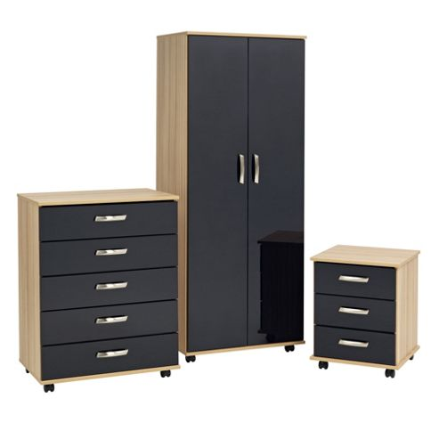 Ideal Furniture Regal Bedroom Collection - Cocobola / Black Gloss