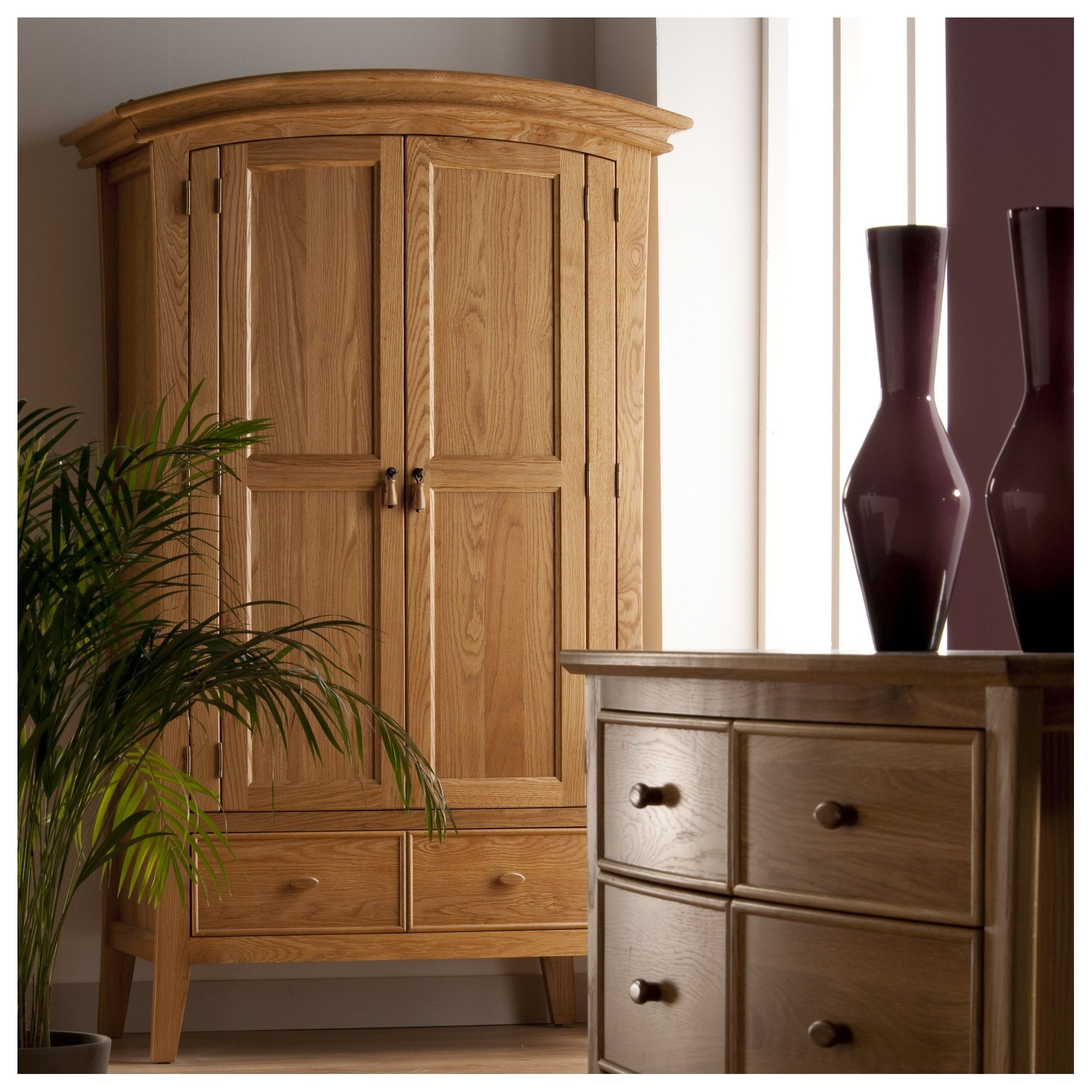 World Furniture Calgary Two Drawer Wardrobe in Oak at Tesco Direct