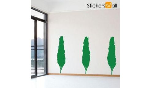 Set of 3 Treeline Wall Stickers, Green