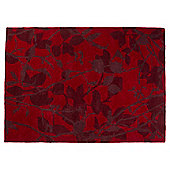 Silhouette Leaf Rug 80x150 red