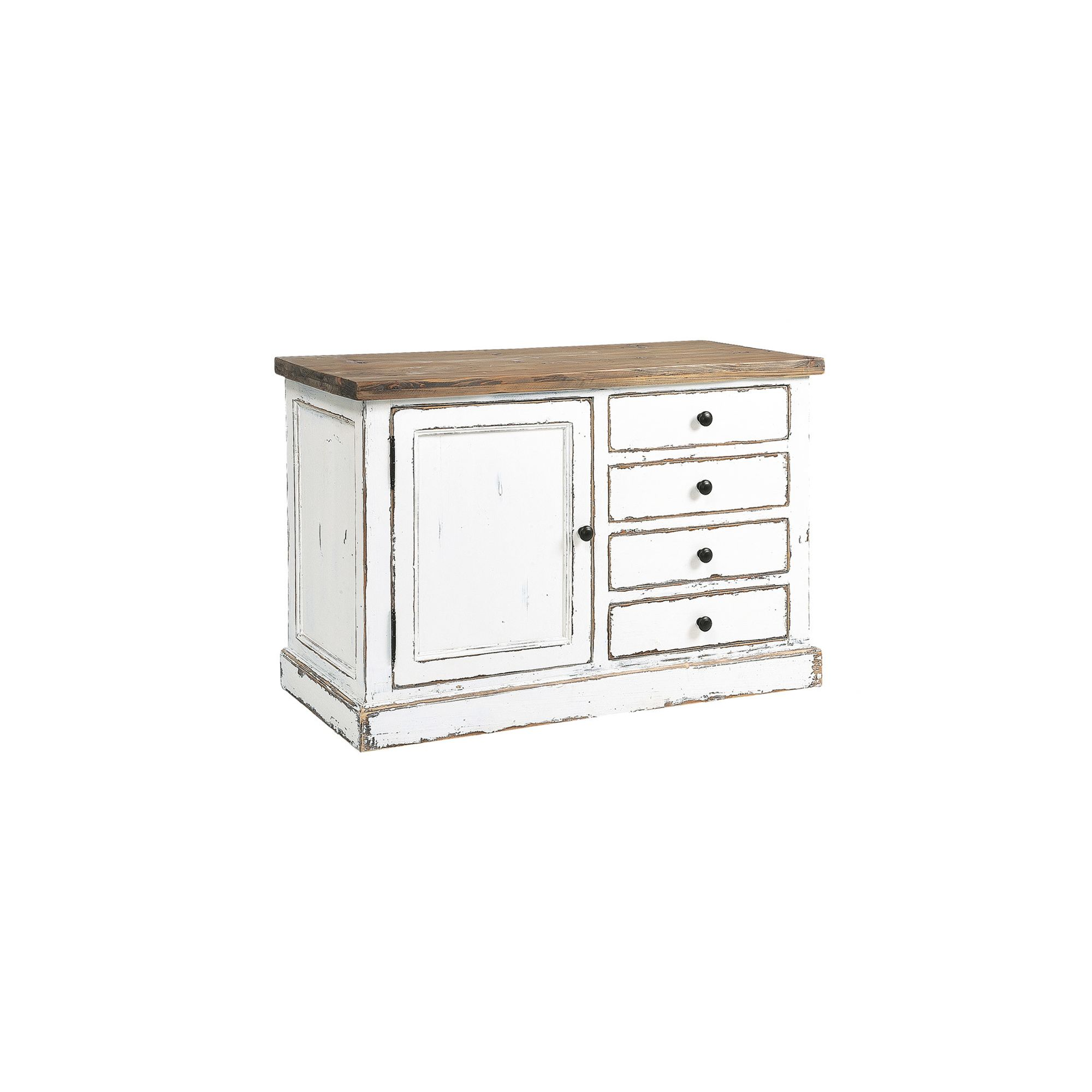 Rowico Aspen Sideboard - White Distress Painted at Tesco Direct