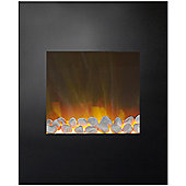 Adam Alexis Black Wall Hung Electric Fire