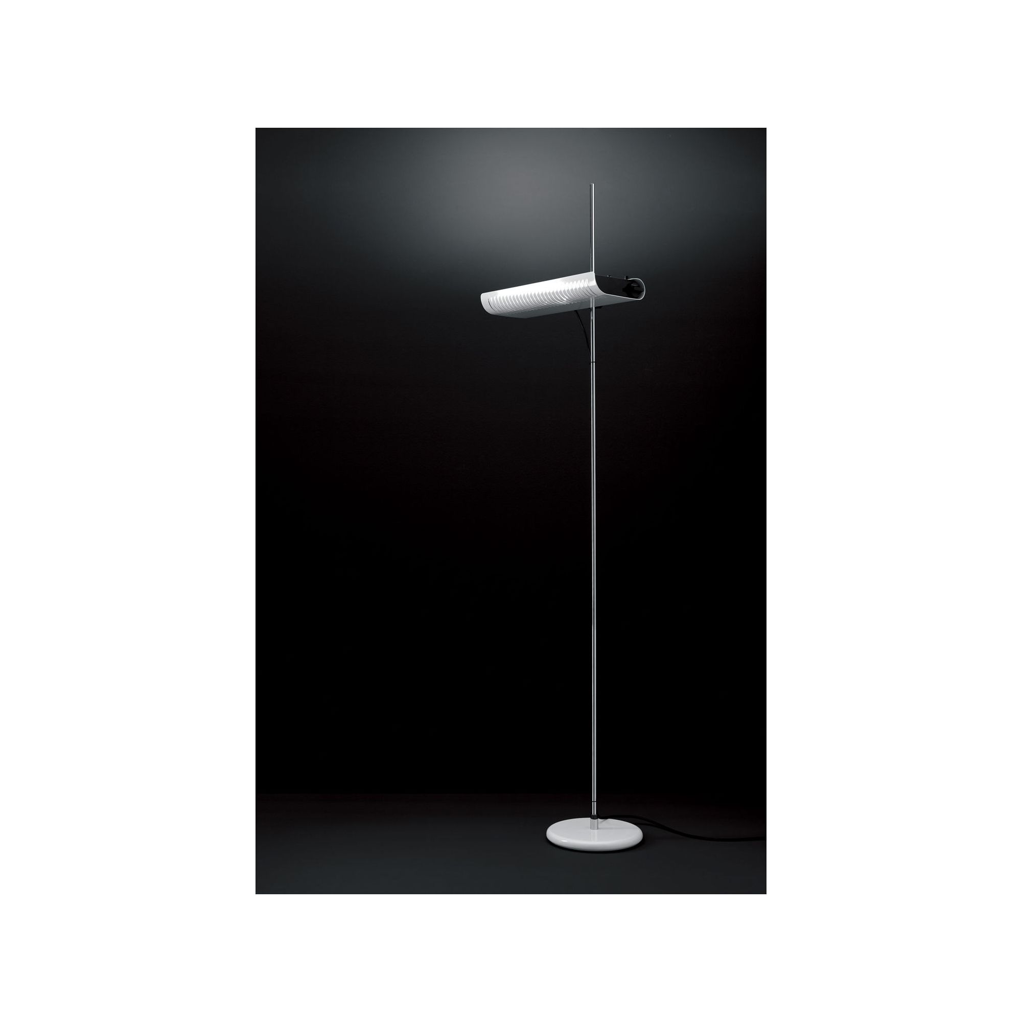 Oluce Colombo Floor Lamp - 203 cm / Black at Tesco Direct