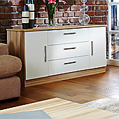 Welcome Furniture Living Room Wide 2 Door / 3 Drawer Unit - Vanilla/Cocobola