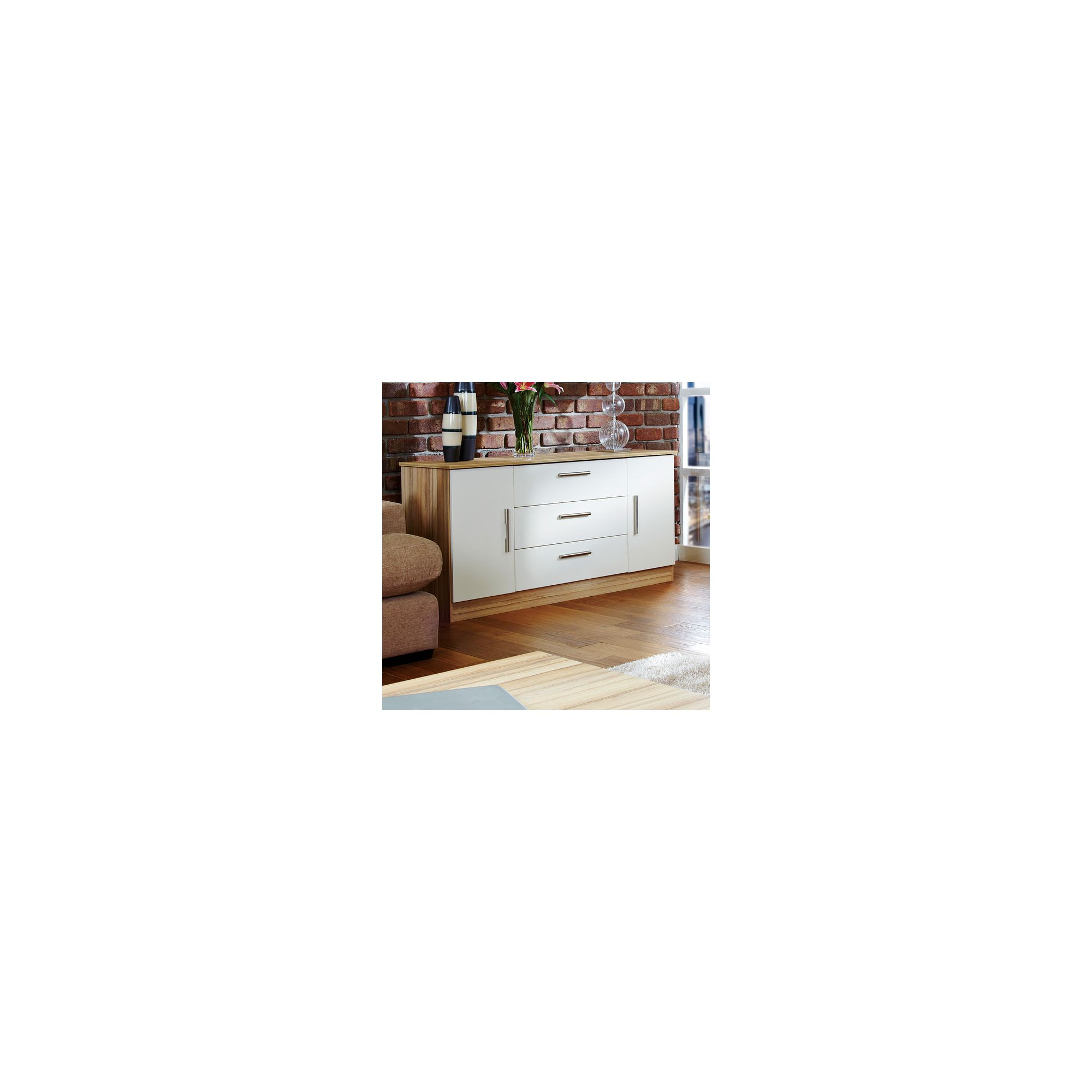 Welcome Furniture Living Room Wide 2 Door / 3 Drawer Unit - Vanilla/Cocobola at Tesco Direct