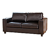Global Furniture Direct Compact Style Bonded Leather 3 Seater Sofa - Brown
