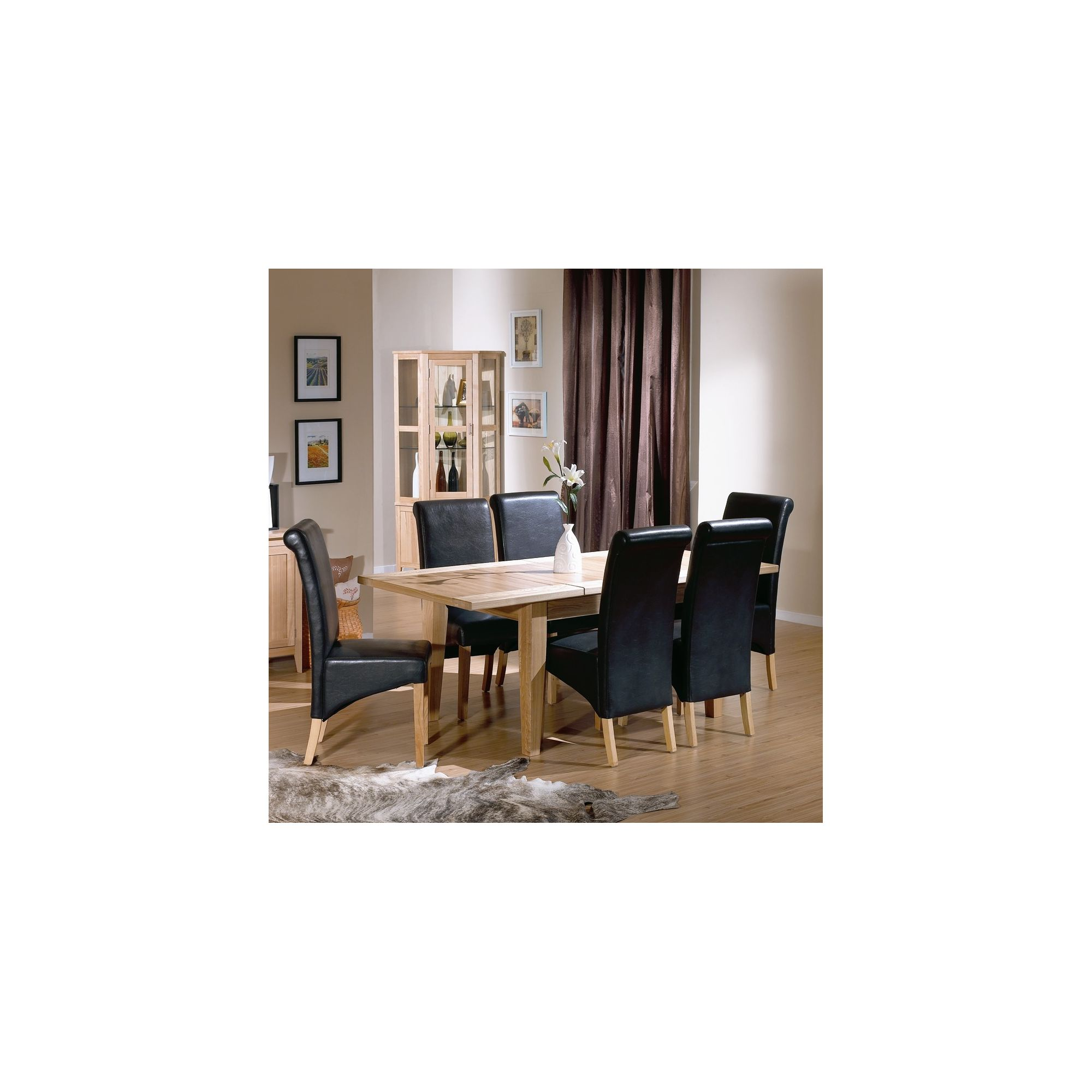 Tesco Direct Kelburn Furniture Carlton Ash Extending Dining Room Set With Bi Cast Leather