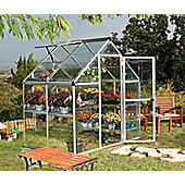 Palram HARMONY 6x4 - SILVER Greenhouse - Polycarbonate and Aluminium Frame