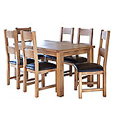 Furniture Link Hampshire 7 Piece Extending Dining Collection