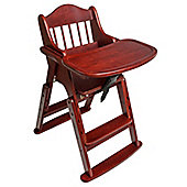 Safetots Folding Wooden High Chair Red Wood