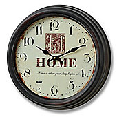 Hill Interiors Home is Where Your Story Begins Wall Clock