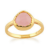Gemondo Rose Quartz 'Diantha' Pastel Ring in 9ct Yellow Gold Plated Sterling Silver