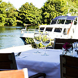 Three Course Meal and Champagne Cocktail for Two at Riverside Brasserie Special Offer