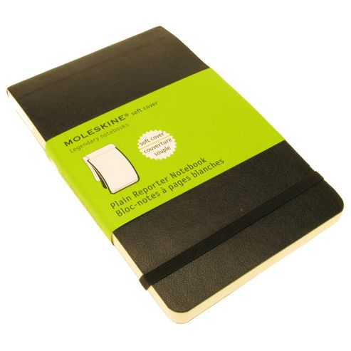 Moleskine Soft Plain Reporter Notebook Pocket