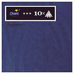 Duni Elegance Napkins, 40cm, 10 Pack, Navy