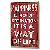 Decorative Wall Plaque.. Happiness is not a Destination
