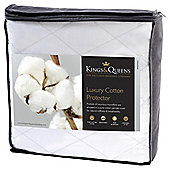 Kings & Queens Luxury Cotton Mattress Protector Single