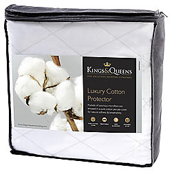 Kings & Queens Single Mattress Protector - Luxury Cotton