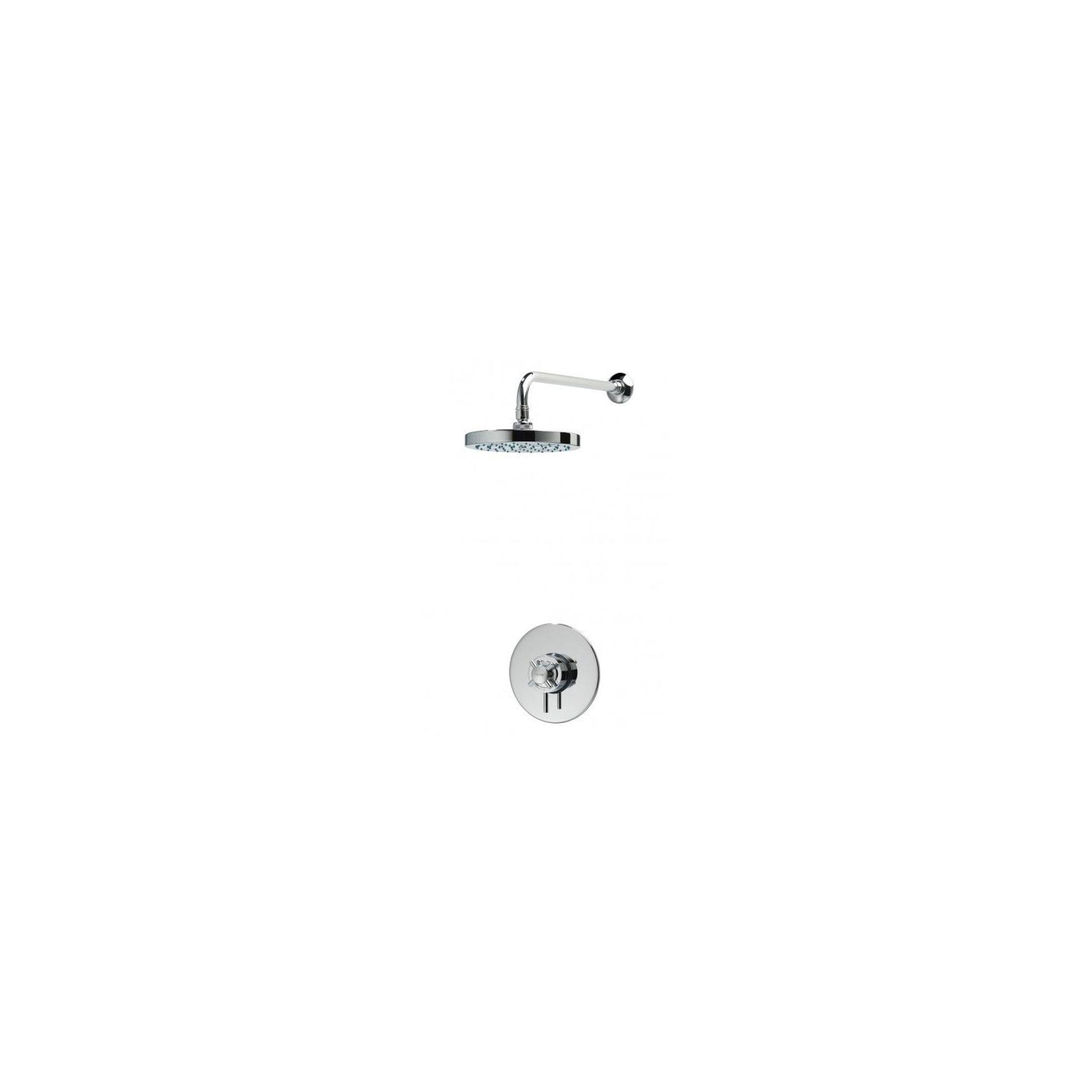 Triton Mersey Built-In Thermostatic Mixer with Fixed Head Chrome at Tesco Direct