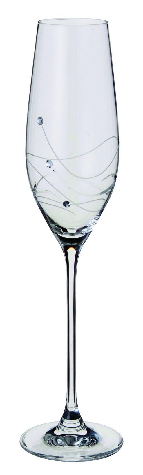 Dartington Crystal - Glitz Collection Flute Pair
